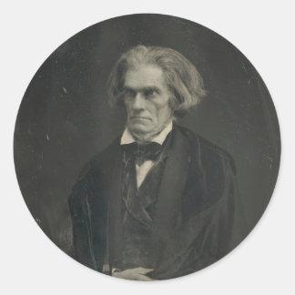 Juan C. Calhoun de Mathew Brady 1849 Pegatinas Redondas