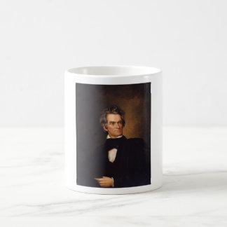 Juan C. Calhoun -- Pintura americana de la histori Taza Básica Blanca