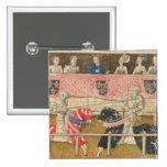 Juan Chalon de Inglaterra y Lois de Beul de Franci Pin Cuadrada 5 Cm