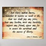 Juan. Cita de F Kennedy Posters