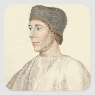 Juan Colet (c.1467-1519), decano del engra de San  Calcomanías Cuadradass