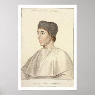 Juan Colet (c.1467-1519), decano del engra de San  Póster