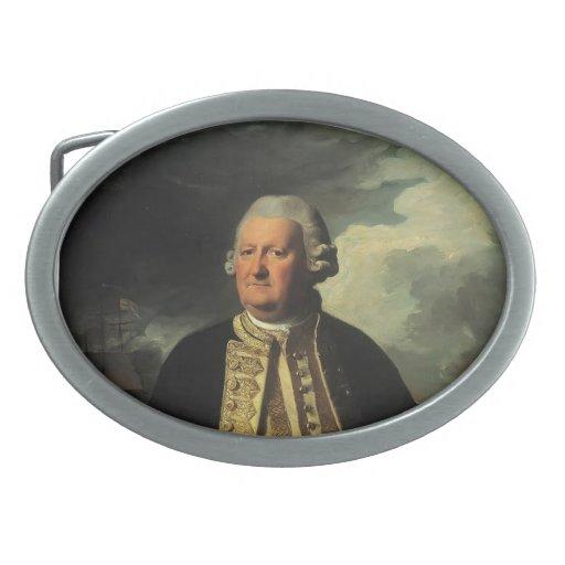 Juan Copley- Clark Gayton, almirante del blanco Hebillas De Cinturón Ovales