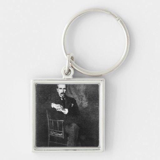 Juan Davison Rockefeller Llavero Cuadrado Plateado