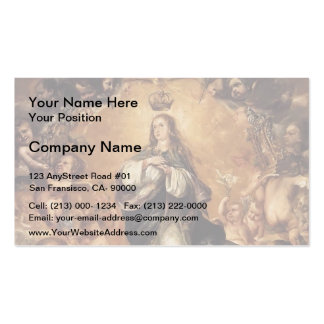 Juan de Leal- Virgin of the Immaculate Conception Business Card Template