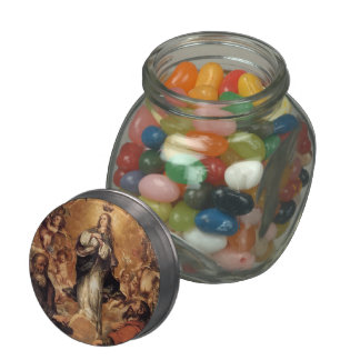 Juan de Leal- Virgin of the Immaculate Conception Glass Candy Jar