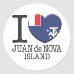 Juan de Nova Island Pegatina Redonda