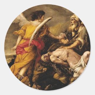 Juan de Valdes Leal el sacrificio de Isaac Pegatina Redonda