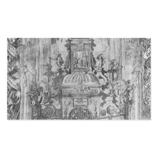 Juan de Valdes Leal- Monument to St. Ferdinand Business Card Template