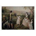 Juan, el 4to duque de Atholl y su familia Tarjetón