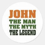 ¡JUAN - el hombre, el mito, la leyenda! Pegatina Redonda