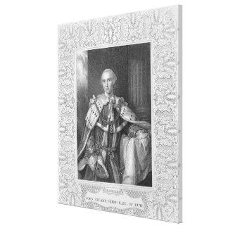 Juan Estuardo tercer conde del Bute grabado Impresiones En Lona