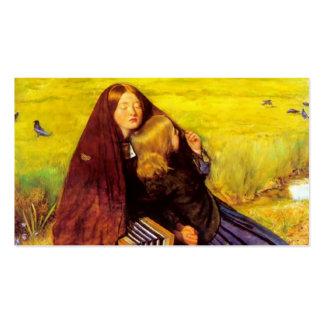 Juan Everett Millais- el chica ciego Tarjetas De Visita