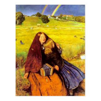 Juan Everett Millais- el chica ciego Postal