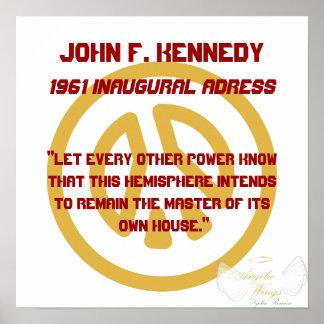 Juan F, Kennedy 1961 inaugural un ddress-Personali Impresiones