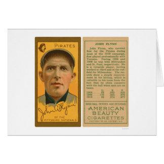 Juan Flynn piratea el béisbol 1911 Tarjeta De Felicitación