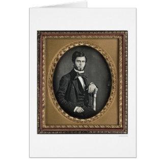 Juan Frederick Morse [C. 1852] Tarjeta De Felicitación
