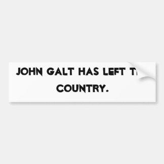 Juan Galt ha salido del país Pegatina Para Auto