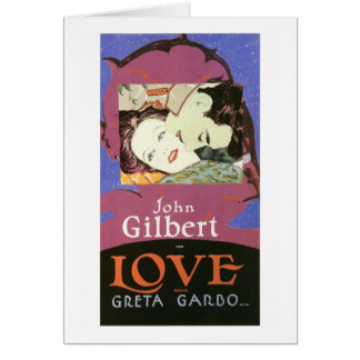 Juan Gilbert en AMOR con Greta Garbo Tarjeta