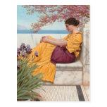 Juan Godward-Debajo del flor que cuelga en rama Postales