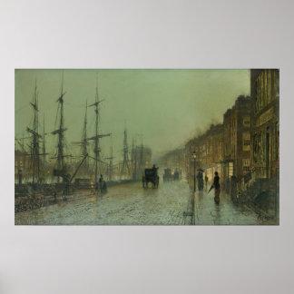Juan Grimshaw - envío en el Clyde, 1881 Posters
