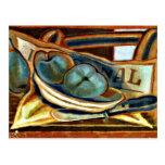 Juan Gris - Apples, Still life art by Juan Gris Post Card