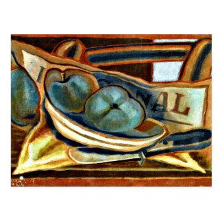 Juan Gris - Apples, Still life art by Juan Gris Postcard