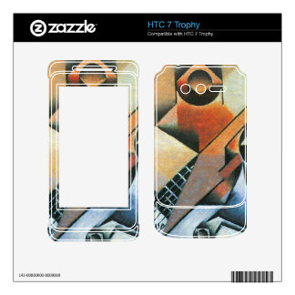 Juan Gris - Banjo (guitar) and glasses Decals For HTC 7 Trophy