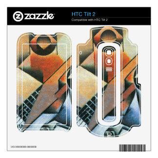 Juan Gris - Banjo (guitar) and glasses Decals For The HTC Tilt 2