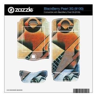 Juan Gris - Banjo (guitar) and glasses BlackBerry Pearl 3G Decal