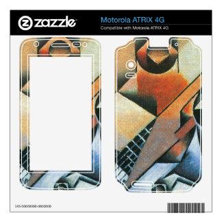 Juan Gris - Banjo (guitar) and glasses Motorola ATRIX 4G Skin