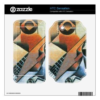 Juan Gris - Banjo (guitar) and glasses Decal For HTC Sensation