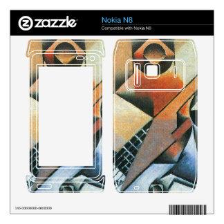Juan Gris - Banjo (guitar) and glasses Decals For Nokia N8