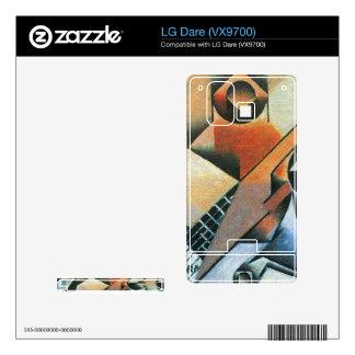Juan Gris - Banjo (guitar) and glasses Decals For LG Dare