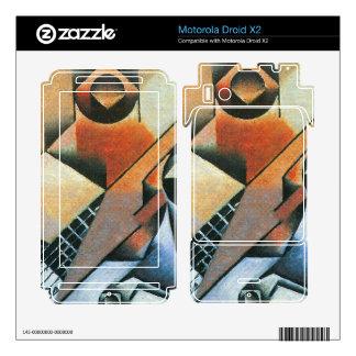 Juan Gris - Banjo (guitar) and glasses Motorola Droid X2 Decal