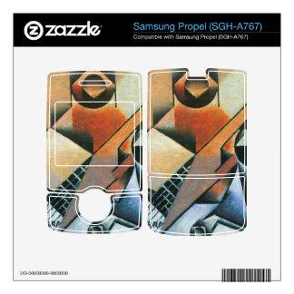 Juan Gris - Banjo (guitar) and glasses Decal For Samsung Propel