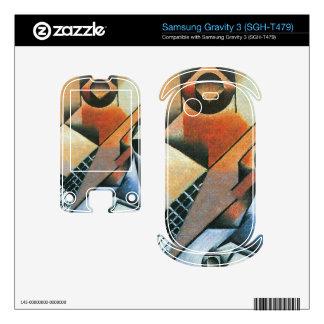 Juan Gris - Banjo (guitar) and glasses Samsung Gravity 3 Decals