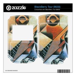 Juan Gris - Banjo (guitar) and glasses Decal For BlackBerry Tour