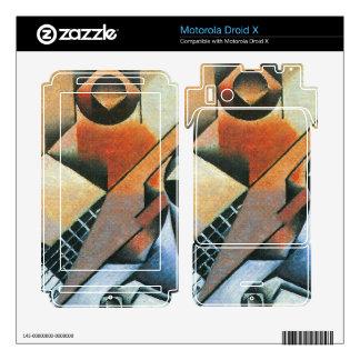 Juan Gris - Banjo (guitar) and glasses Skin For Motorola Droid X