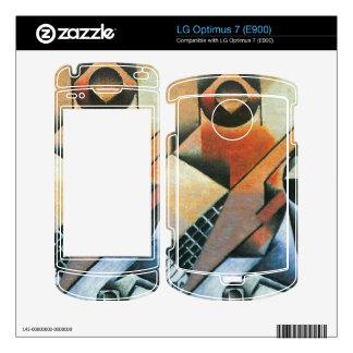 Juan Gris - Banjo (guitar) and glasses LG Optimus 7 Decals