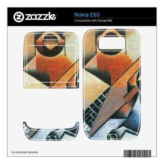 Juan Gris - Banjo (guitar) and glasses Skin For Nokia E63