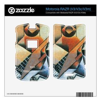 Juan Gris - Banjo (guitar) and glasses Motorola RAZR Skin