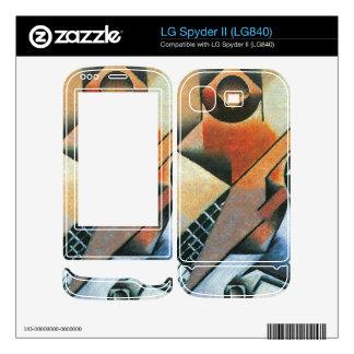 Juan Gris - Banjo (guitar) and glasses LG Spyder II Decal