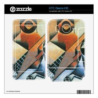 Juan Gris - Banjo (guitar) and glasses Skin For HTC Desire HD