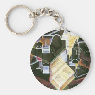 Juan Gris - Book pipe and glasses Keychain