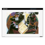 """Juan Gris - Book pipe and glasses 15"""" Laptop Decals"""
