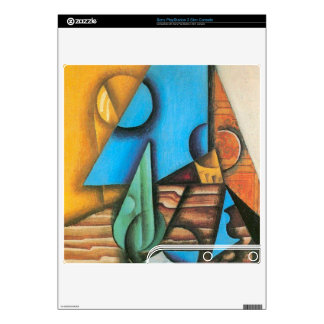 Juan Gris - Bottle and glass on a table Decal For PS3 Slim