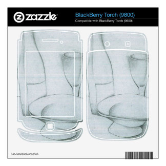 Juan Gris - Bottle glass and fruit peel BlackBerry Decal