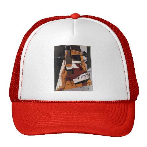 Juan Gris- Bottle, Newspaper and Fruit Bowl Hat