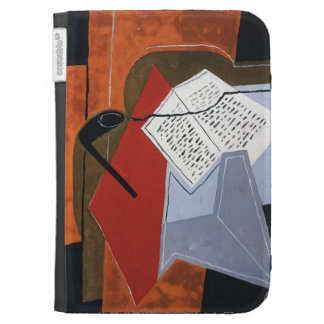 Juan Gris- Bowl and Book Kindle Keyboard Cases